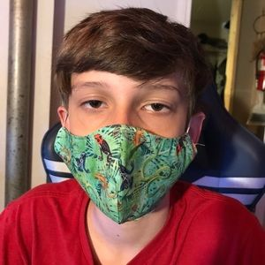 Frog snake face mask kids reptile forest fitted
